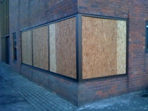 Boarding up windows